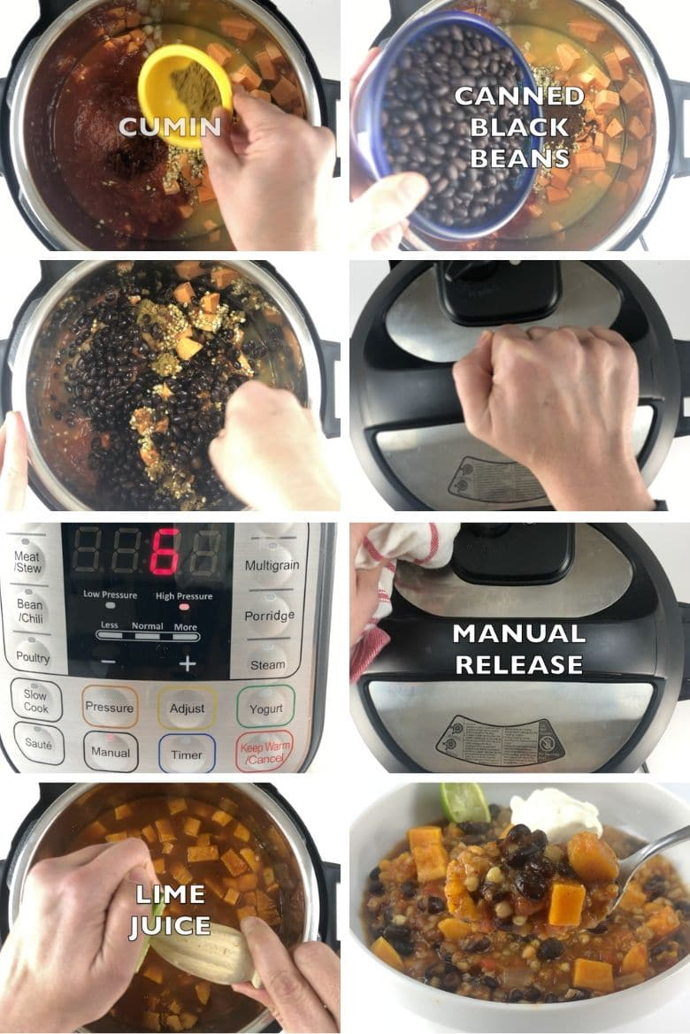 Hearty Vegan Instant Pot Chili Process