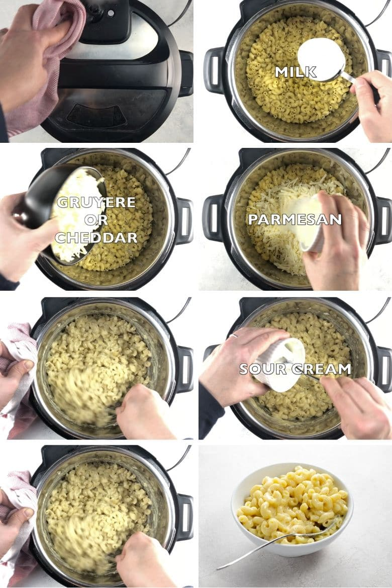 Instant Pot Mac and Cheese Process 2