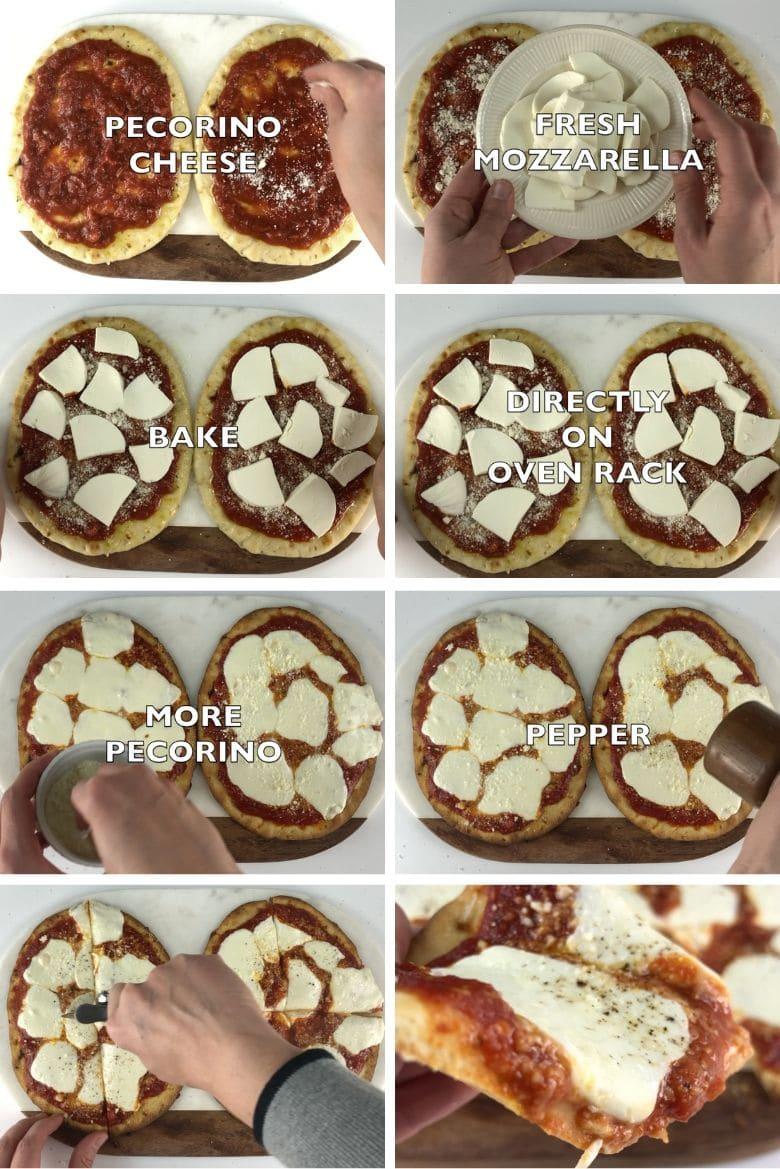 Naan Pizza Margherita Process 2