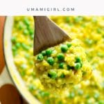 Saffron Risotto with Pease and Goat Cheese _ Umami Girl