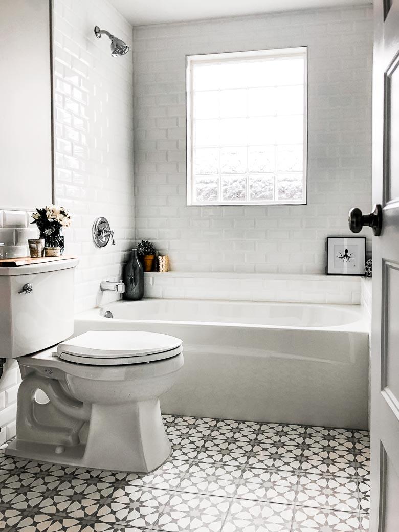 Half bath to full bathroom renovation Hendrickson Place rental property