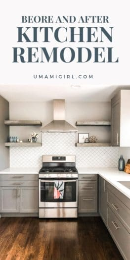 Kitchen Renovation Before and After Pin 1 _ Umami Girl