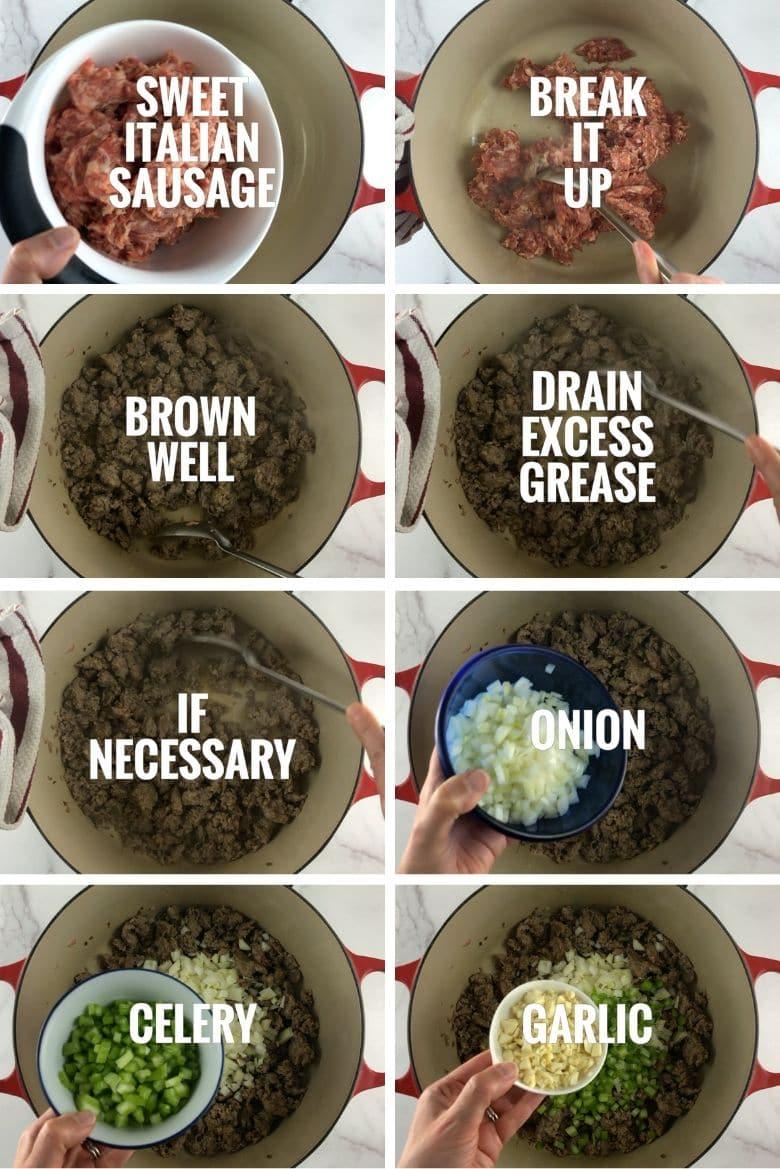Sausage Potato Kale Soup Step by Step 1 _ Umami Girl