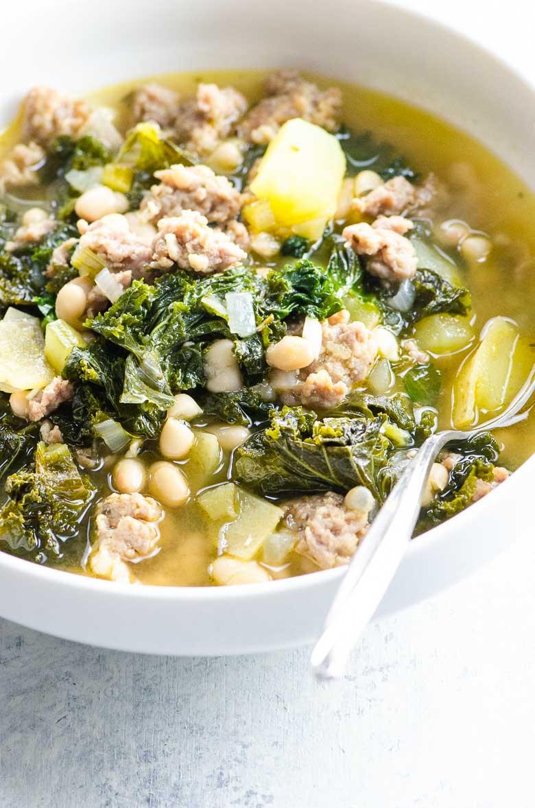 Sausage Potato Kale Soup | Umami Girl 780-7