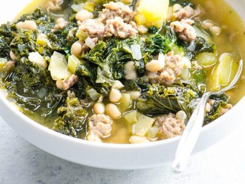 Sausage Potato Kale Soup | Umami Girl 780-8