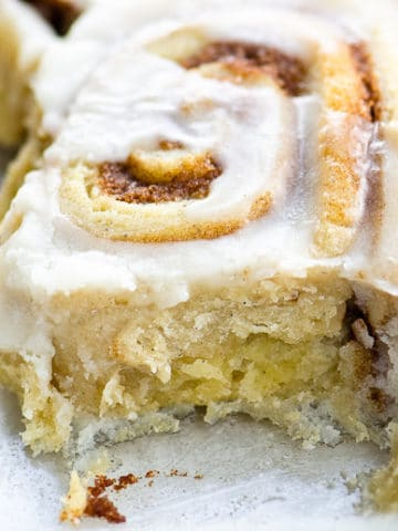swedish cinnamon buns close up