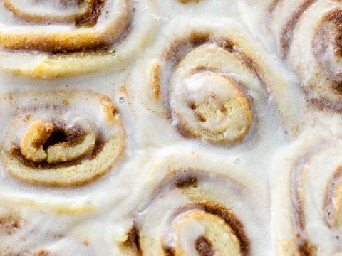 landscape closeup of lotta jansdotter's cinnamon buns