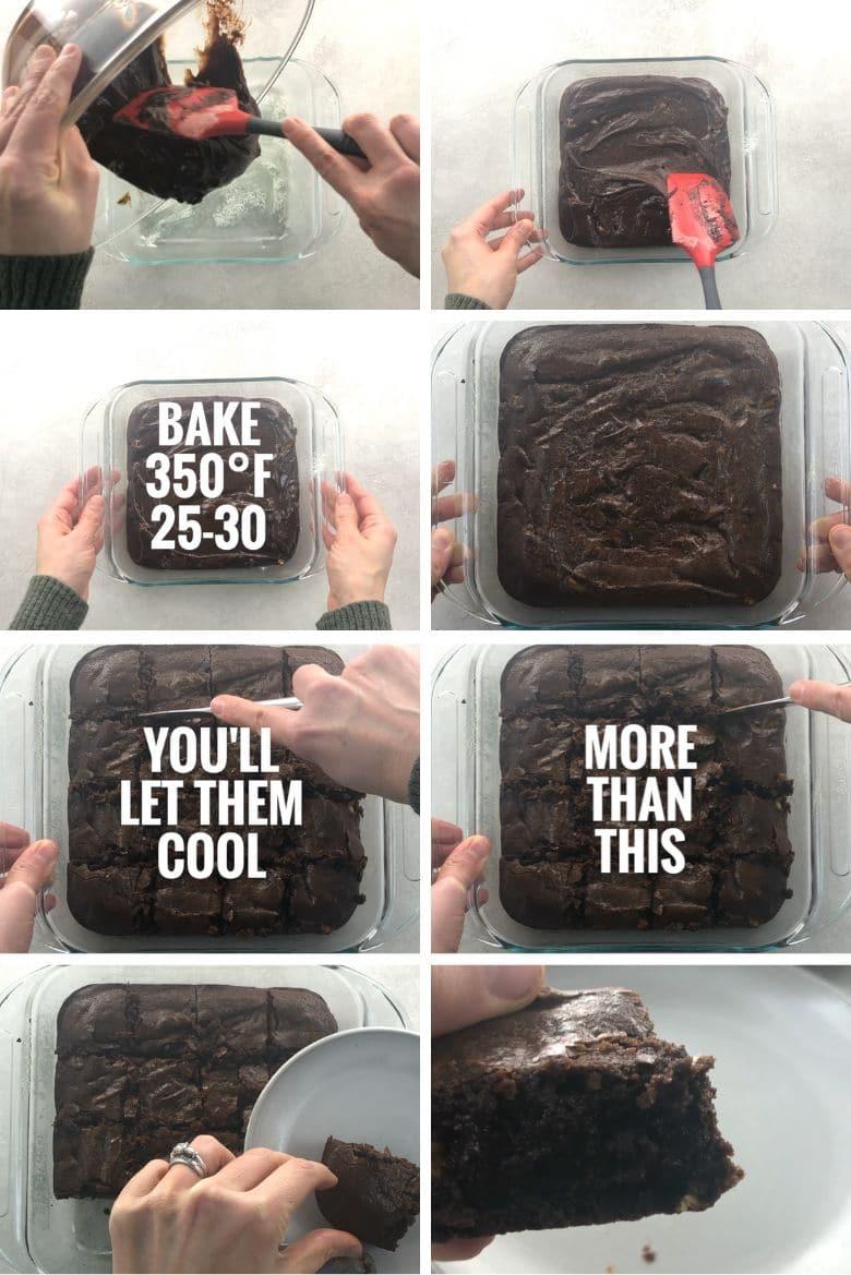 step by step making brownies
