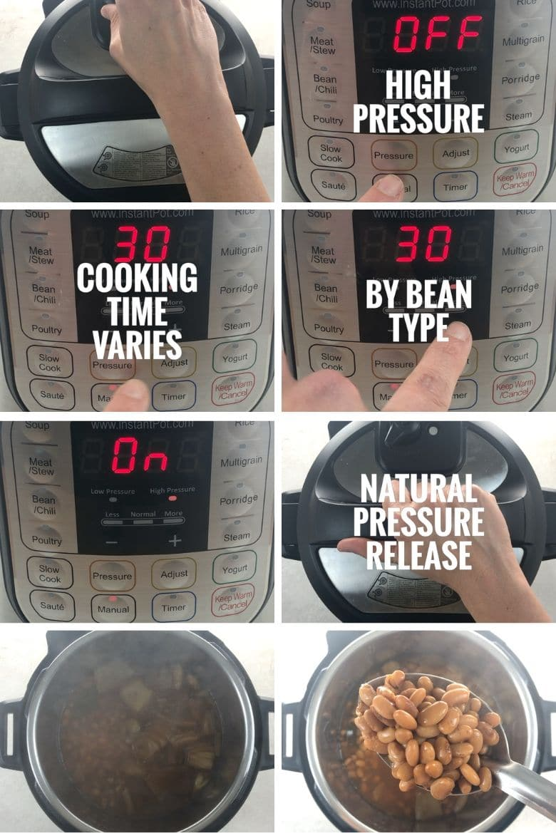 cooking dried beans in the Instant Pot