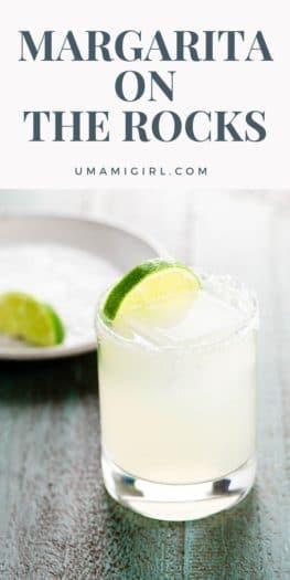 Margarita on the Rocks Cocktail Recipe Pin 2 _ Umami Girl