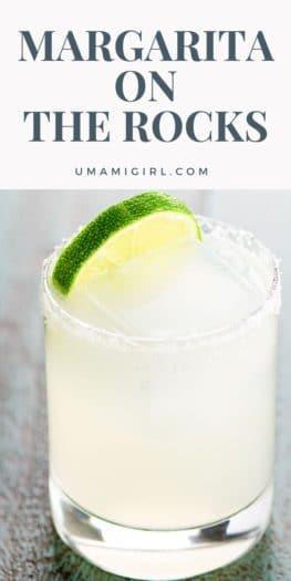 Margarita on the Rocks Cocktail Recipe Pin _ Umami Girl