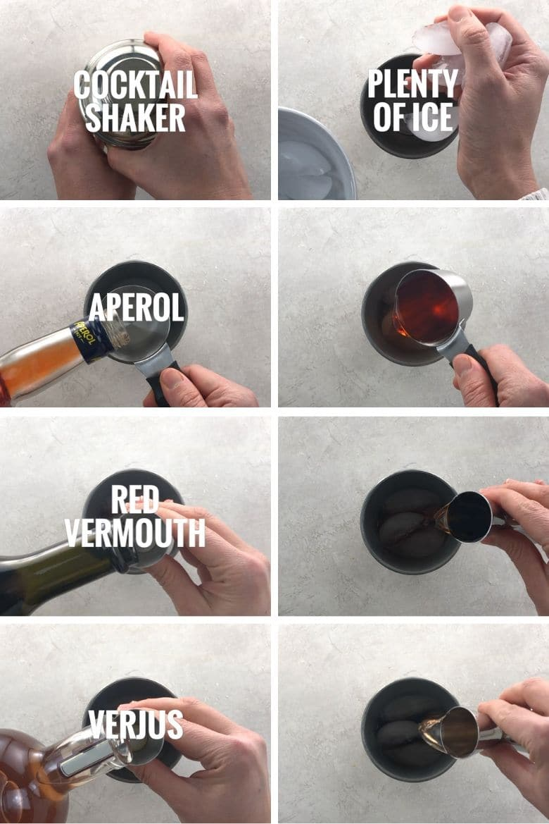 steps to make a cocktail