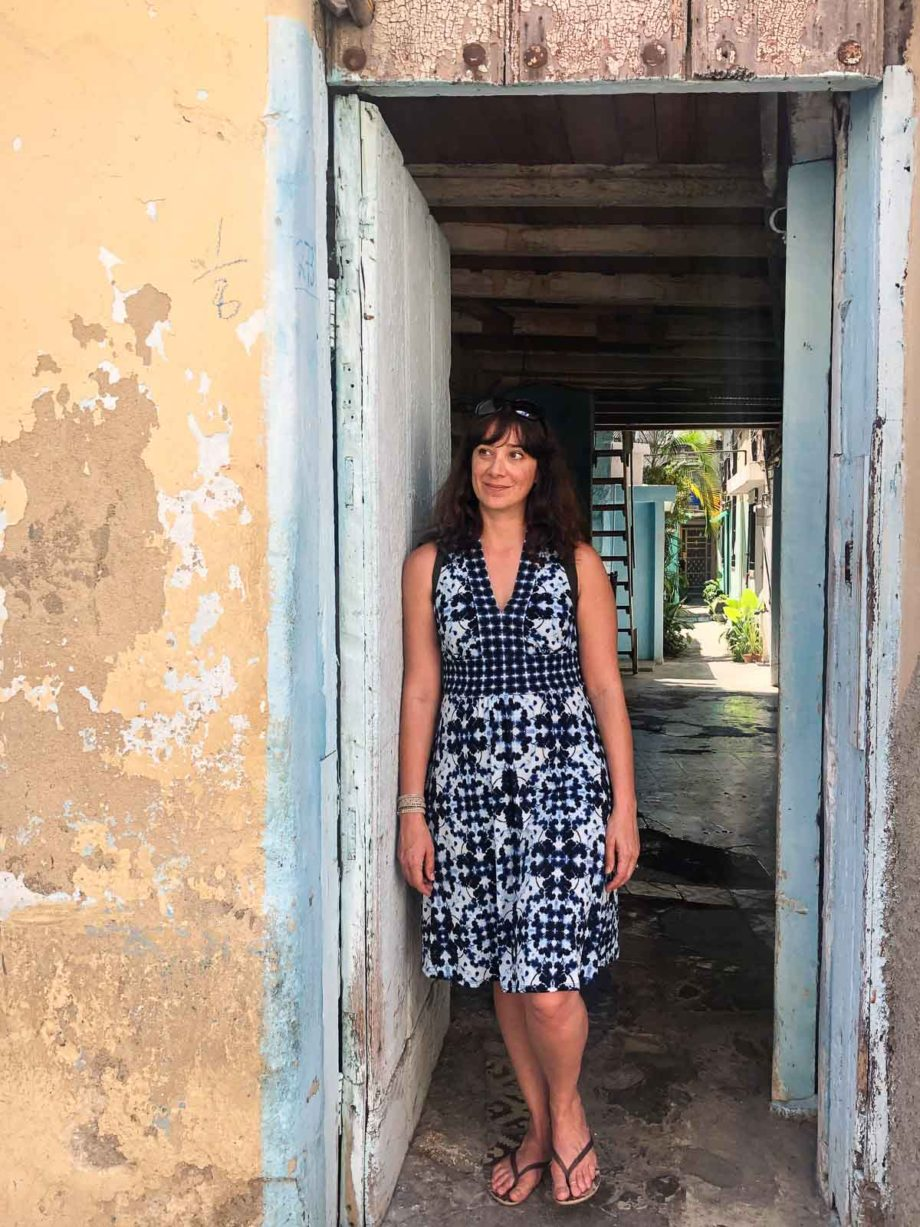 Carolyn Gratzer Cope in Havana Doorway