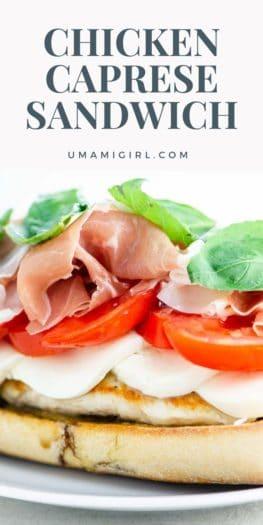 Chicken Caprese Sandwich Pin 2 _ Umami Girl