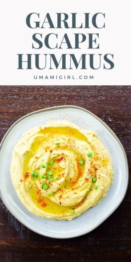 Garlic Scape Hummus Pin 3 _ Umami Girl