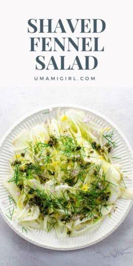 Shaved Fennel Salad With Caper Vinaigrette Pin 1 _ Umami Girl