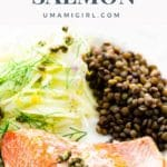 Slow-roasted Salmon with Shallot and Capers Pin 2 _ Umami Girl