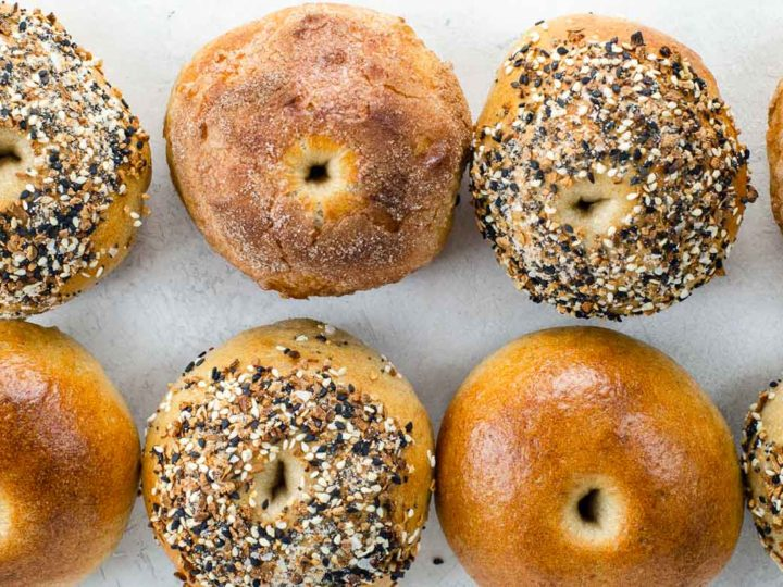 eight sourdough bagels