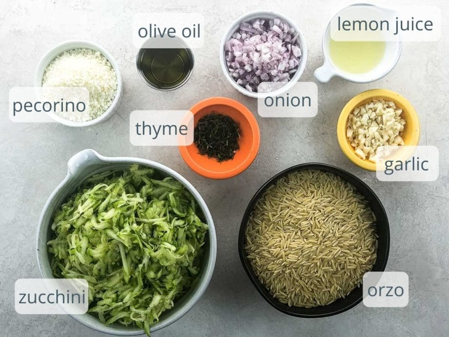 ingredients in bowls on a white background