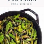 Charred Shishito Peppers Pin _ Umami Girl