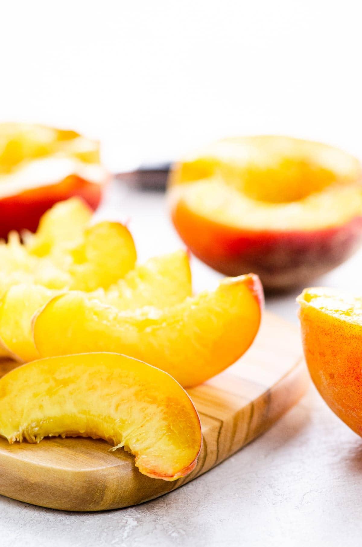 peach slices and halves