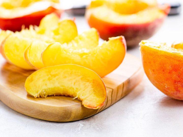 peach halves and slices