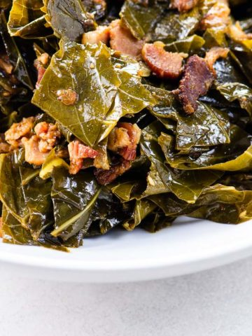 southern style collard greens in a bowl