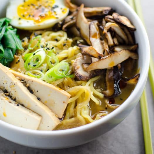 bowl of vegetarian ramen for umami girl's most popular recipes