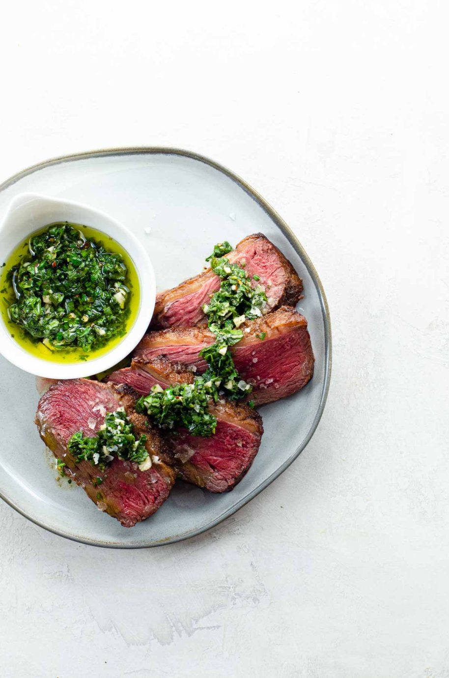 sirloin cap / picanha / culotte steak with chimichurri
