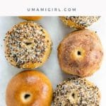 bagels lined up