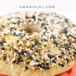 everything bagel with cream cheese and lox