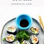 Spicy Salmon Roll Homemade Sushi