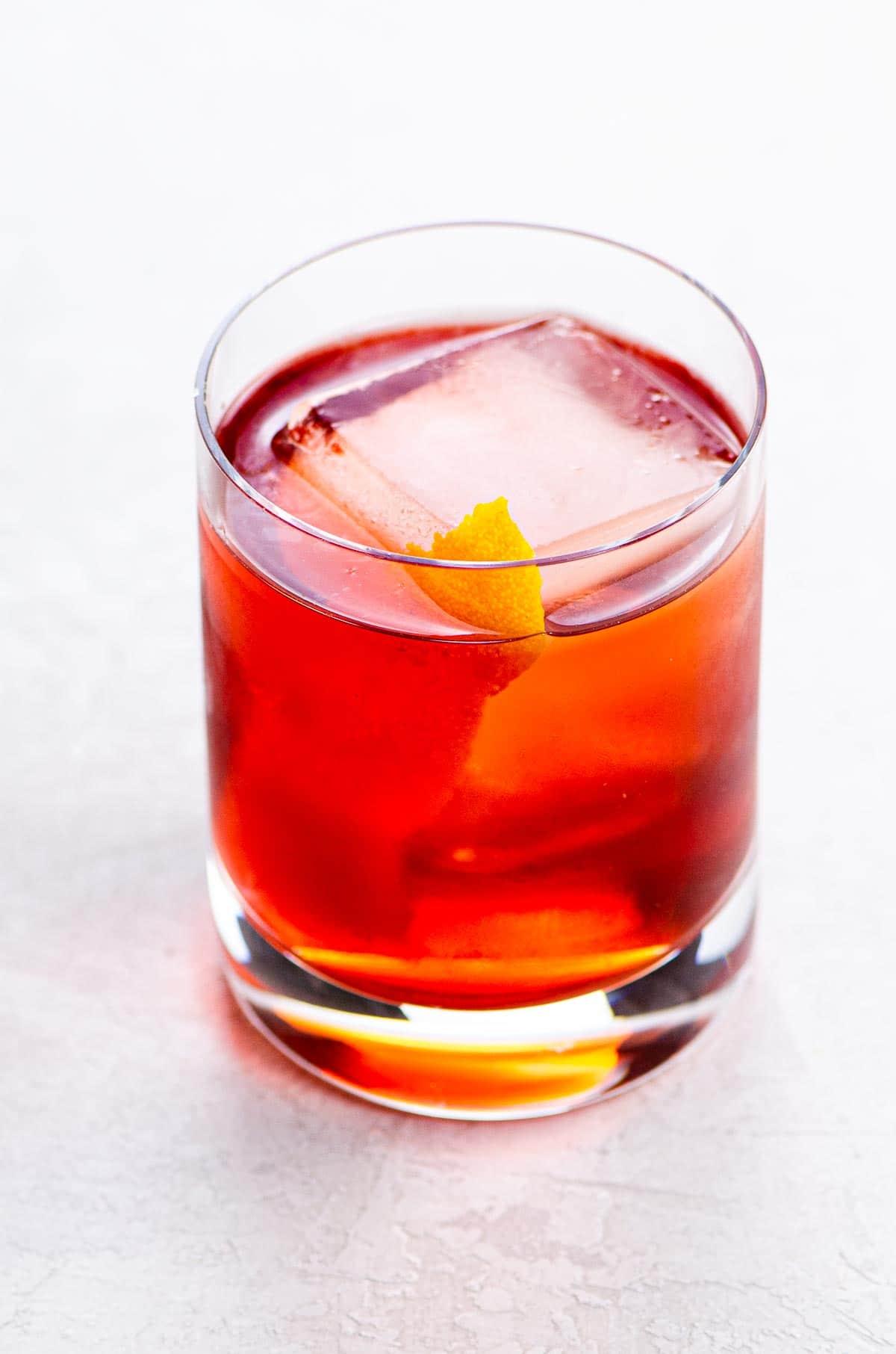 boulevardier in a rocks glass