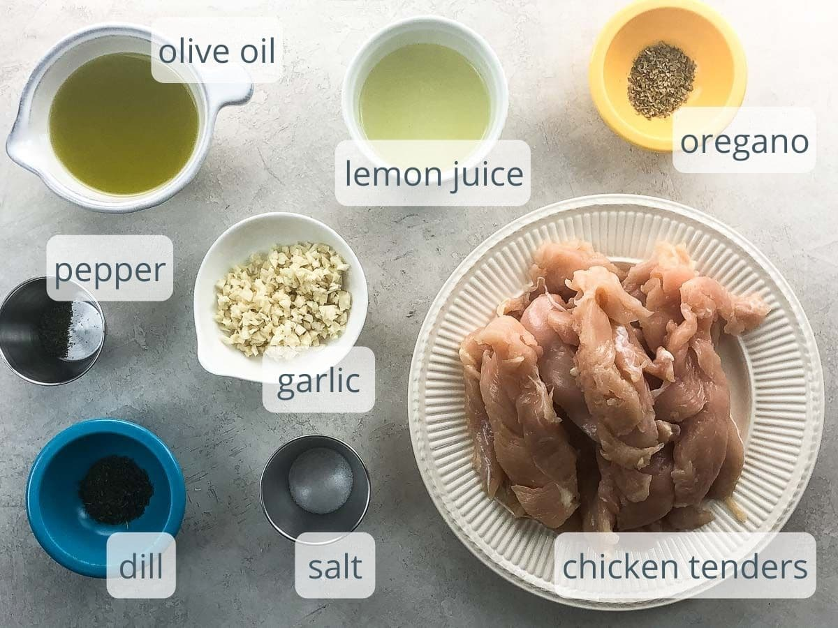ingredients for marinating chicken
