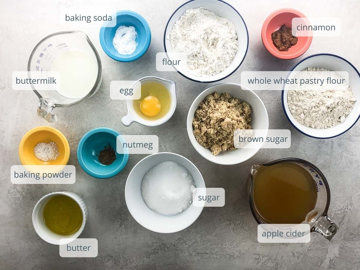 ingredients in bowls and measuring cups