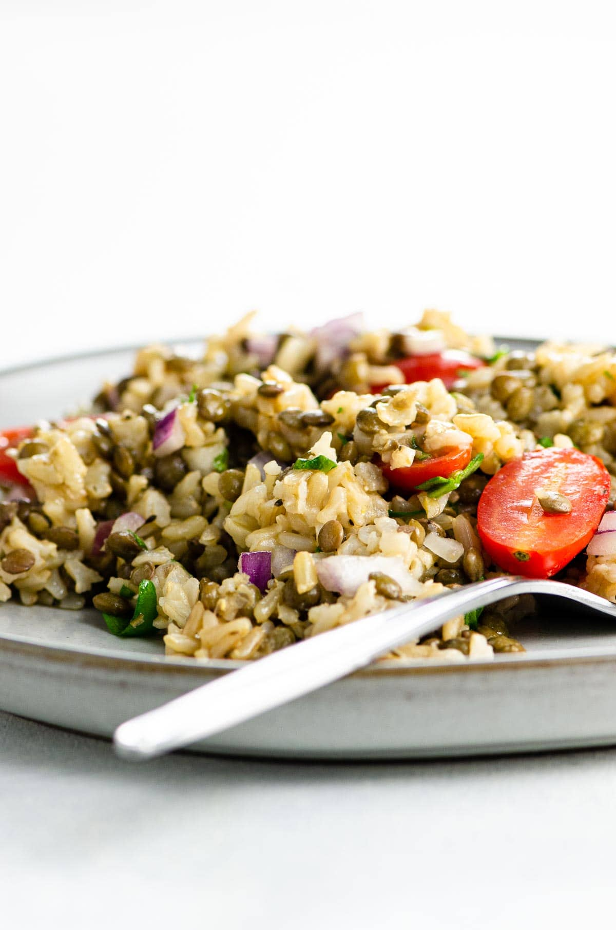 rice and lentils salad
