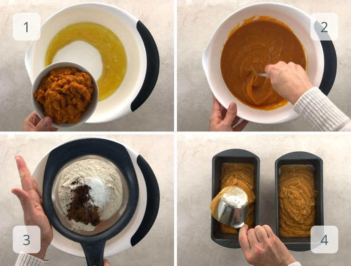 how to make pumpkin bread step by step