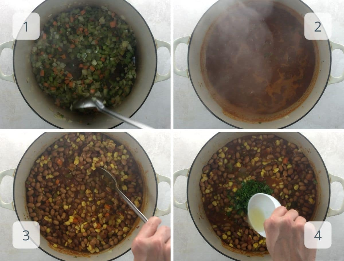 how to make vegan chili step by step