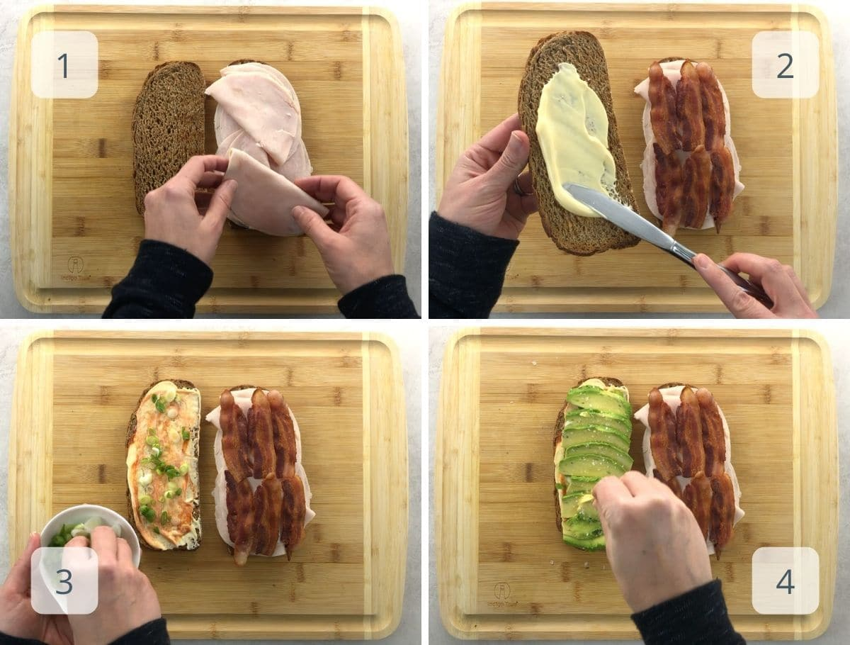 making a sandwich step by step