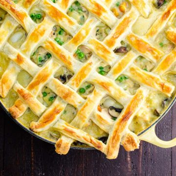turkey pot pie with puff pastry