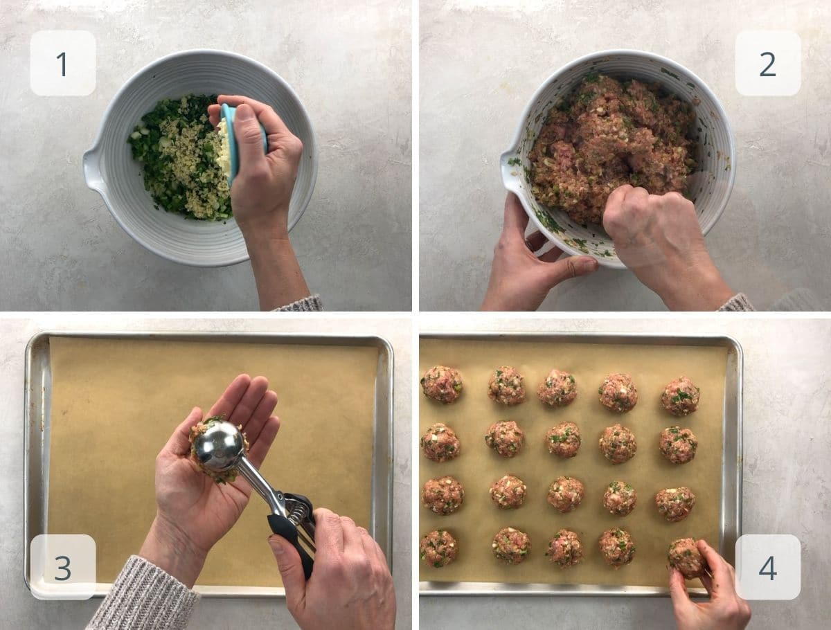 meatball-making step by step