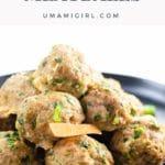 Asian-inspired Pork Meatballs