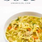 Vegan chicken noodle soup