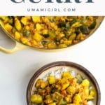 Zucchini curry with chickpeas pin 2