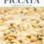 Vegetarian Piccata with Cannellini Beans in a pan