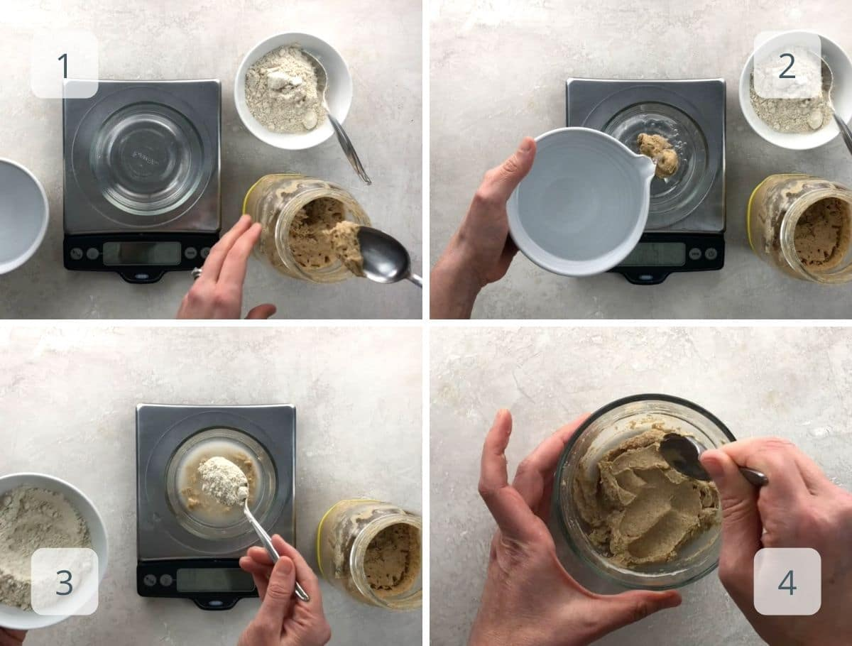 making the leaven step by step