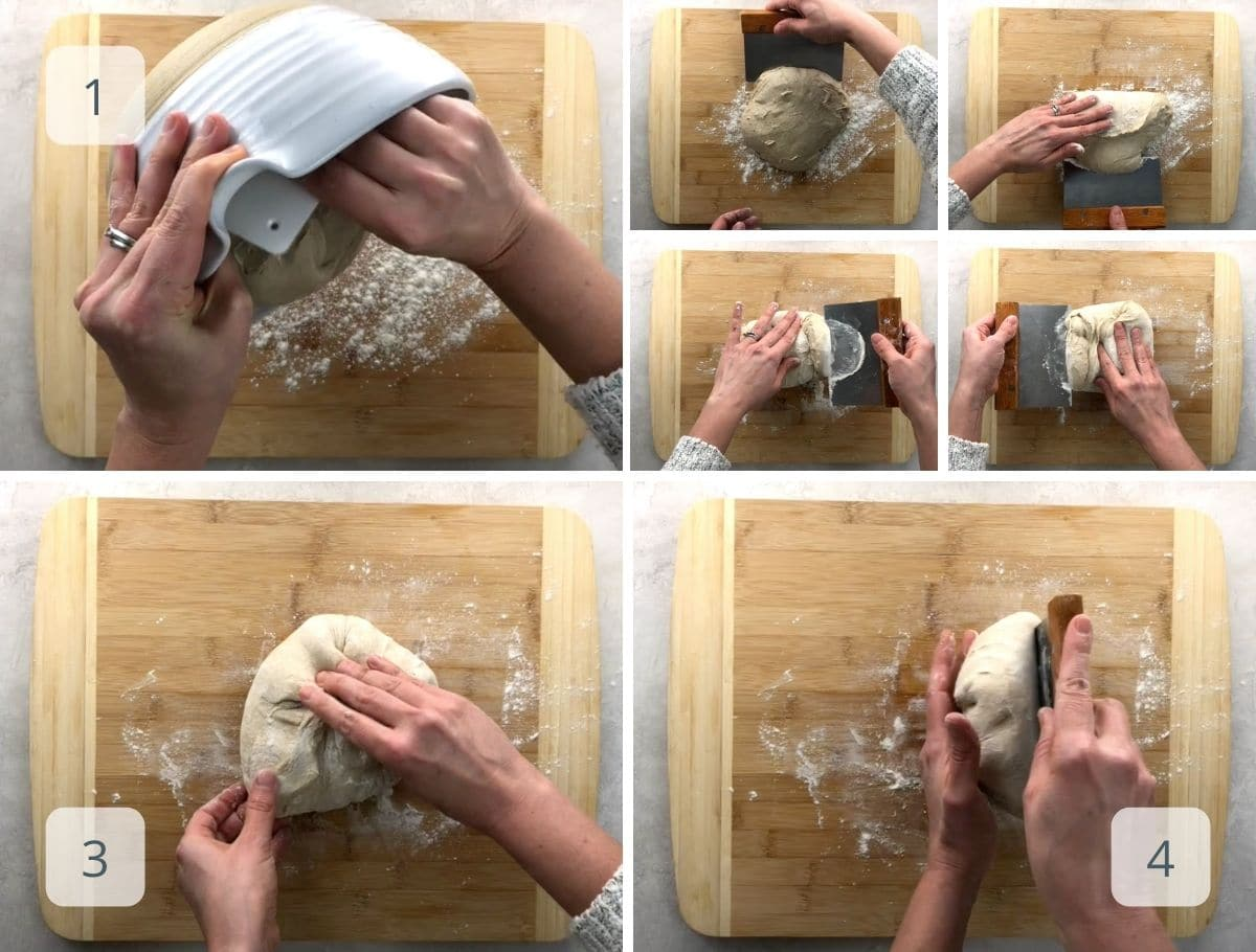 preshaping the bread