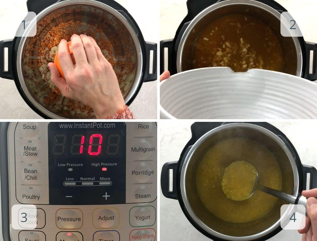 step by step in the instant pot