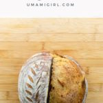 sourdough rye bread on a cutting board