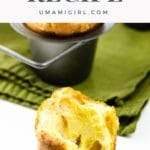 popovers from our easy popover recipe in a pan with a green napkin